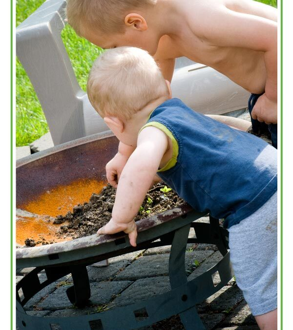 while i was making dinner – {life with 2 little boys}