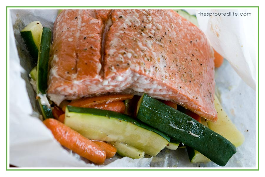 Salmon and Veggie Packets