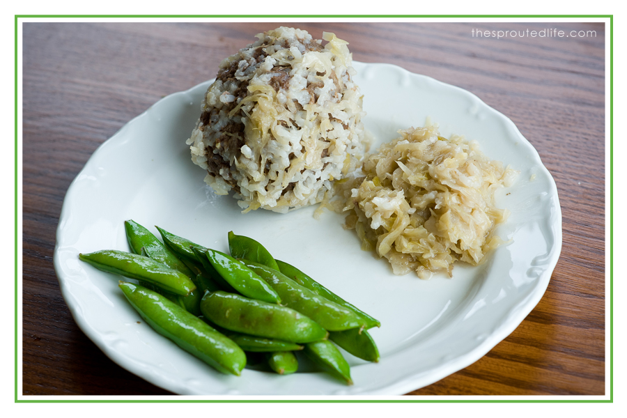 Sauerkraut and Meatballs – A Gluten Free Family Favorite