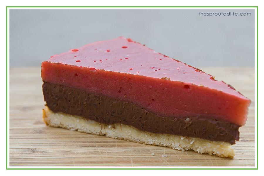 strawberry rhubarb – chocolate tart (paleo, gluten free & dairy free)